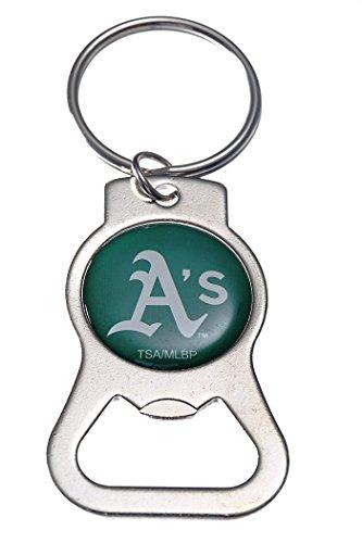 Rico Industries, Inc. Oakland Athletics A's EG Premium Bottle Opener Key Chain Decal Keychain Baseball