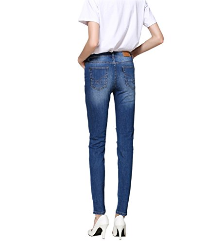 Pantaloni Blu Donna Denim Distressed Medium Zlz Distrutti Stretch Jeans tHpcqwA