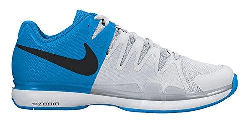 Herren Nike Zoom Vapor 9.5 Tour Tennisschuhe (Winter 2017 Farben) Blau / Schwarz / Platin