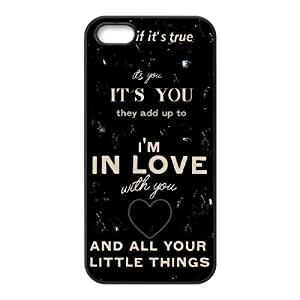 One Direction Little Things DIY Cell Phone Case for Iphone 5,5S,One Direction Little Things custom cell phone case