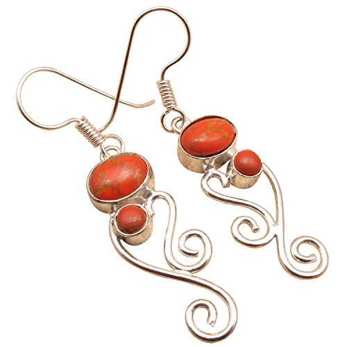 925 Sterling Silver Plated Birthday Present, Original Stone EARRINGS ! Made In India Jewelry - In India Made Store