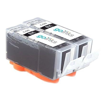 GO Inks c-pgi525bk-2 Pack de 2 cartuchos de tinta compatible con ...