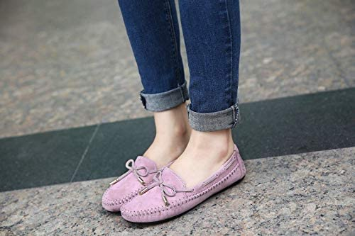 f6795d7e8f7 Amazon.com  HuWang Spring Autumn Women Casual Flat Heels Shoes Woman Fashion  Bow-tie Loafers Lazy Student Boats Plus Size 35-44  Garden   Outdoor