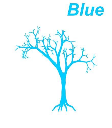 Blue Vintage Halloween decorations A dead tree design (Weather Network Halloween)