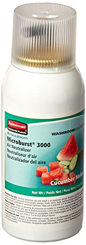 Mist Dispenser Automatic (Rubbermaid Commercial Refill for Microburst 3000 Automatic Odor Control System, Cucumber Melon, FG750363)