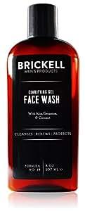 Brickell Men's Clarifying Gel Face Wash for Men – Natural & Organic Facial Cleanser – 8 oz