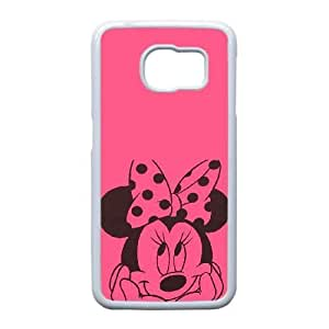 Samsung Galaxy S6 Edge Case, Disney Mickey Mouse Minnie Mouse Cell phone case White for Samsung Galaxy S6 Edge - SDFG8754369