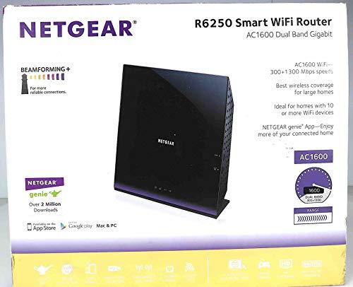 (Netgear R6250v2 - Wireless Router - 802.11A/B/G/n/AC - Desktop - Dual Band - Black - R6250-200NAS)