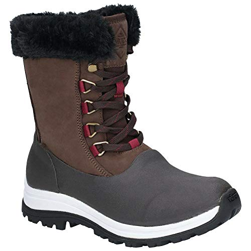 Muck Boot Women's Apres Lace Brown Size 10 Arctic Grip Mid AG Boots