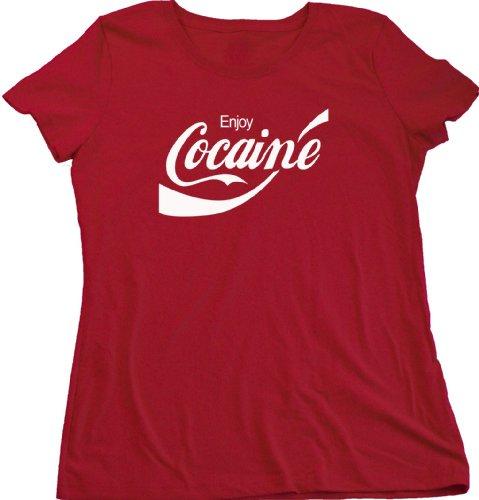 Enjoy Cocaine Parody Ladies T shirt product image