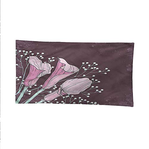 Floralsimple tapestryart tapestryWorn Out Summer Petals Calla 80W x 60L Inch