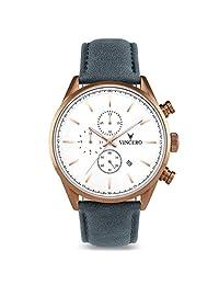 Vincero - Reloj de pulsera para hombre con cronógrafo de 43 mm, movimiento de cuarzo japonés, Copper/Slate Blue, 43mm