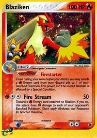 Pokemon - Blaziken (3) - EX Ruby and Sapphire - Holofoil (And Sapphire Ruby Pokemon Cards)