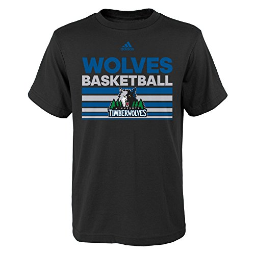 fan products of NBA Minnesota Timberwolves Boys Youth Born One Short Sleeve Tee, X-Large (18), Black