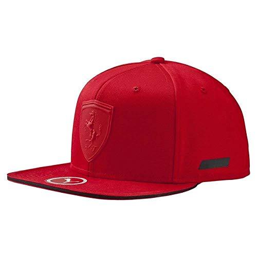 PUMA Children's Ferrari Flatout Cap,Red,US One Size (Kids Ferrari Cap)