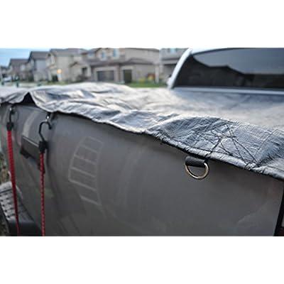 10' x 12' Dry Top Super Heavy Duty Black 12-mil Poly Truck Tarp item #510126 - Warehouse Deals - .com