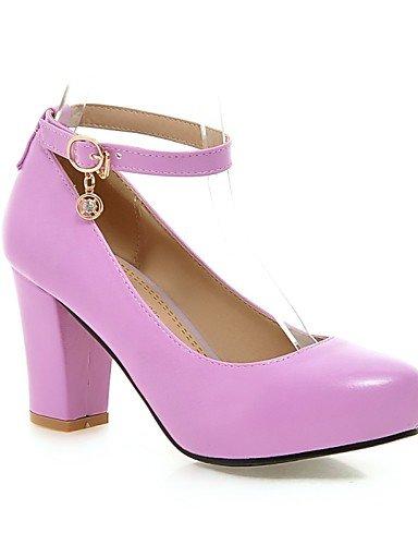 Color Purple 10 8 Las 7 us9 Zq Tacones Zapatos Mujeres 5 Uk7 Eu41 Tac¨®n Negro amp; 5 Talones Oficina Cn42 Pink Grueso Rosa 5 Pu 5 Cn37 us6 Ocasional Confort 5 Uk4 De carrera La Eu37 11aU4
