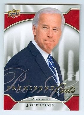 Joe Biden trading card (Vice President of the United States Senator) 2009 Upper Deck #1 - Senator Joe Biden Vice