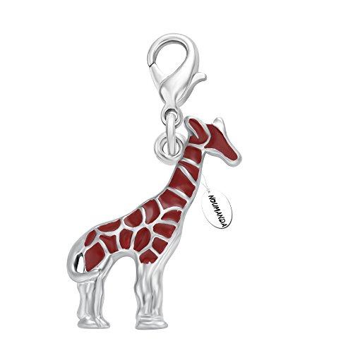 NOUMANDA Mini Cartoon Giraffe Pendant,DIY Hanging Decorations for Bracelet Necklace -