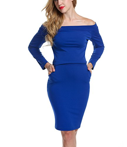 ACEVOG-Womens-Off-Shoulder-Long-Sleeve-Bodycon-Pocket-Midi-Pencil-Dress