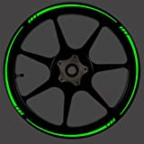 Vehicleartz DARK GREEN Reflective Speed Tapered Wheel Rim Tape Stripe fit Motorcycles, Cars, Trucks