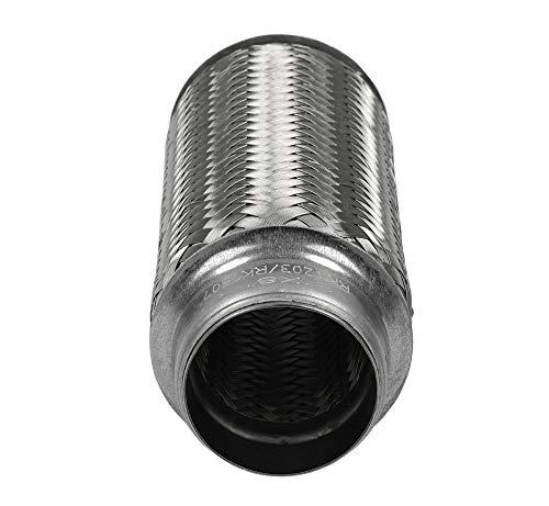 """RK7507 Exhaust Flex Pipe 2/"""" x 8/"""" Heavy Duty Stainless Steel 8/""""OL"""