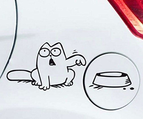 Simons Cat Aufkleber mit Napf
