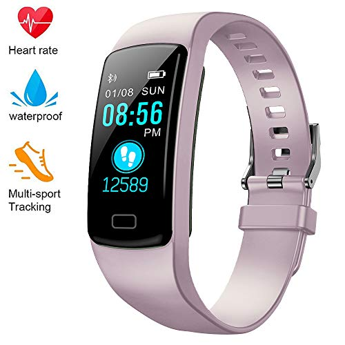 Deyawe Fitness Tracker,Colorful Screen Activity Tracker with Heart Rate Monitor,Waterproof Pedometer Watch, Sleep Monitor, Stopwatch,Step Counter for Kids Women Men【2019 Version】 (Best Step Counters 2019)