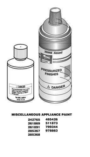 Whirlpool 511873 Appliance Touch-Up Paint (White)
