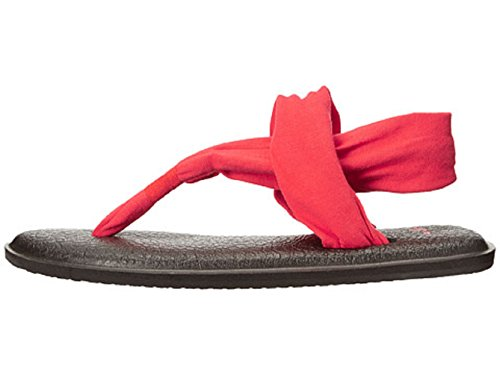 Flip M Sanuk Red Bright Us 6 Mat Yoga flop Women's TfnwnUtqg