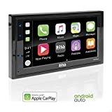 BOSS Audio BVCP9685A Apple CarPlay Android Auto Car Multimedia Player - Double Din Car Stereo, 6.75' LCD Touchscreen Monitor, Bluetooth, MP3 Player, USB Port, Aux Input, AM/FM Car Radio