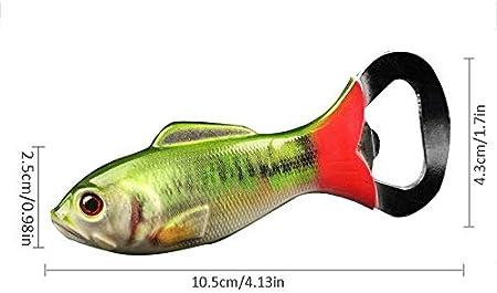yywl - Sacacorchos (2 Unidades, Acero Inoxidable, abridor de Botellas 3D simulado, Forma de pez, sacacorchos)
