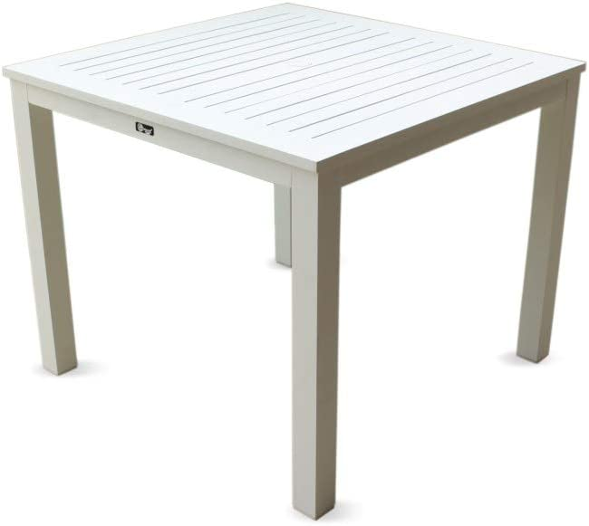 Courtyard Casual 5074 Skyline Collection Outdoor Dining Table, White