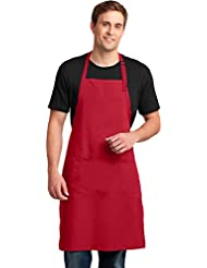 Port Authority novelty-and-special-use Easy Care Extra Long Bib Apron OSFA Red