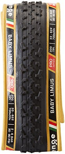 Challenge Baby Limus Open Tubular 700c Clincher Bicycle Tire (Black/Tan - 700 x 33) ()