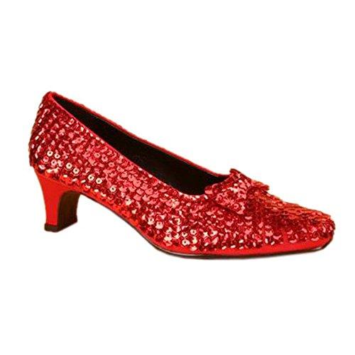 Pleaser Shoes Sale (Pleaser DOROTHY-05G, Red Glitter Children's Dorothy Shoes, 1 1/2