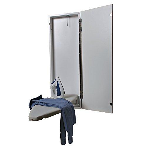 HANDi-PRESS NE-40-1000 Non-Electric Built-In Ironing Board, White Door by HANDi-PRESS