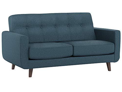 (Rivet Sloane Mid-Century Modern Tufted Loveseat Sofa Couch, 64.2