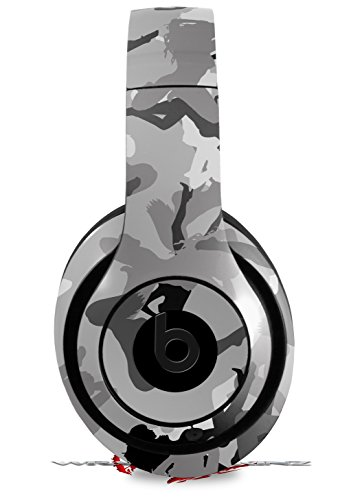 Skin Decal Wrap for Beats Studio 2 and 3 Wired and Wireless Sexy Girl Silhouette Camo Gray HEADPHONES NOT INCLUDED