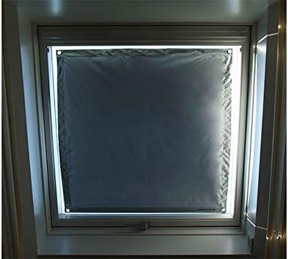 Roto 07//16 = 52x138cm, blau ! Exsun Roto Sonnenschutz Rollo Dachfenster Verdunkelung Hitzeschutz Thermofix unbedingt Glasfl/äche innen ausmessen und vergleichen