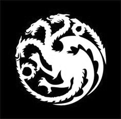 Game of Thrones - Mother of Dragons Decal Vinyl Sticker|Cars Trucks Vans Walls Laptop|WHITE|5.5 (Dragon Vinyl)