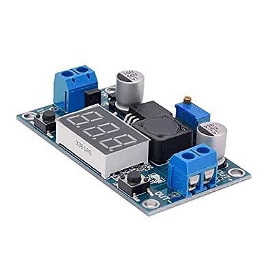 Valefod 3 Pack LM2596 DC to DC Voltage Regulator 4-40V to 1.5-35V Buck Converter with LED Display: Automotive