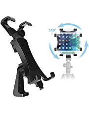 IPOW 360 Degree Rotatable Break-Resistant iPad Tripod Mount Adapter, Universal Tablet Clamp Holder Fits Ipad Air, Pro, Mini, Microsoft Surface, Nexus, for Tripod Monopod, Selfie Stick,Tabletop Stand
