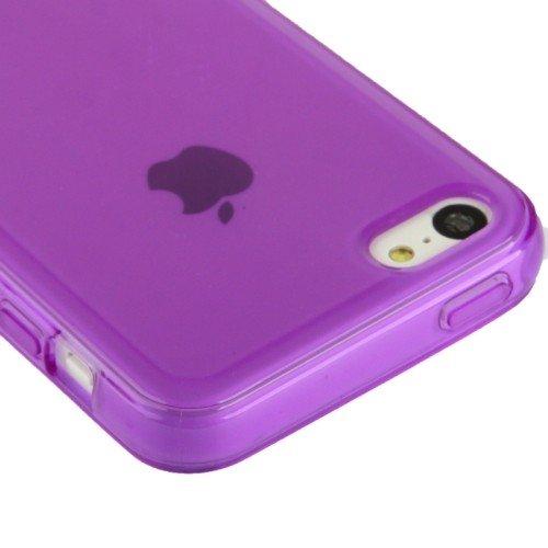 Schutzhülle TPU Case für Handy Apple iPhone 5C Lila