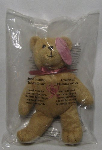 Avon Flame Teddy Bear Supporting Breast Cancer Research 7in Plush Teddy Bear from Avon