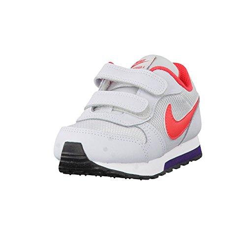 Nike 807328-003, Zapatillas de Trail Running Unisex Niños Gris (Pure Platinum / Ember Glow-Purple Dynasty)