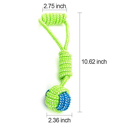 Illumifun Dog Rope Toy, Dog Pet Durable Teething Rope Toys for Small & Medium Dog (Set of 3)