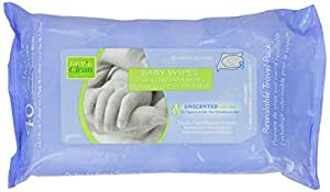 Nice 'N Clean Baby Wipes with Aloe, Travel Paks, Unscented, Hypoallergenic, Case of 12/40s (480 ct)