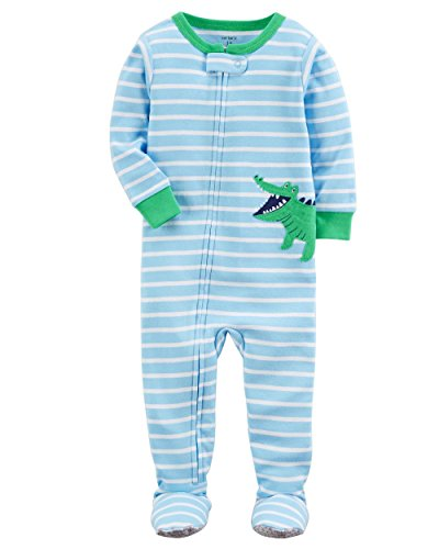 Carter's Baby Boys' 2T-5T One Piece Snug Fit Cotton Pajamas (18 Months, Blue/Alligator)