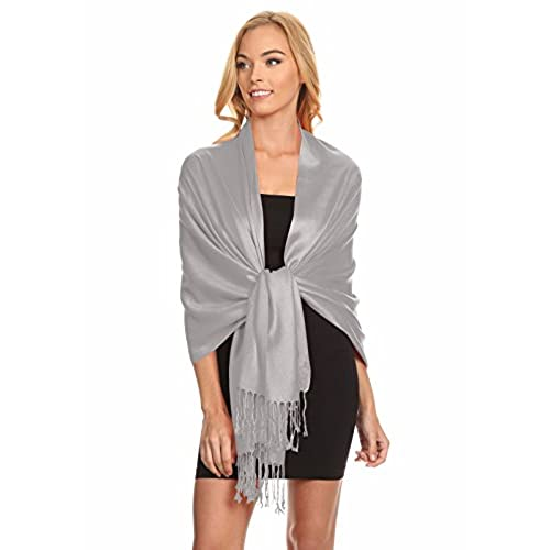 Silver Shawl Wrap: Amazon.com